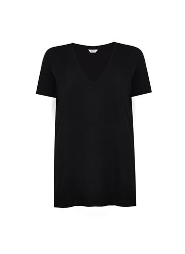 Deux Beautés Daphne V Yaka T-Shirt  Siyah